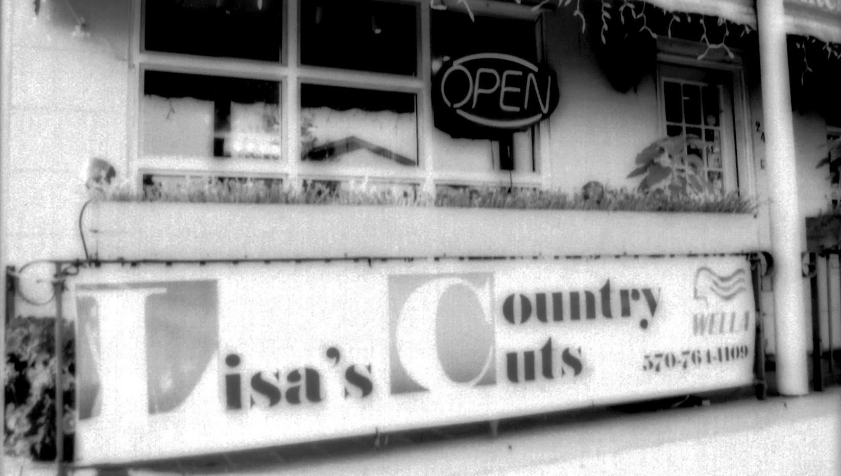 Shop front black and white